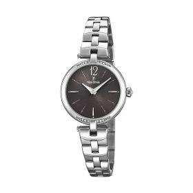 Orologio Solo Tempo Donna Mademoiselle F20307/2 Nero e Acciaio