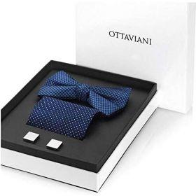 54240- Ottaviani Uomo Set Gemelli, Papillon e Pochette Bleu