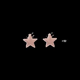 8011-Osa Mayrose Orecchini a Lobo Stella in Argento 925 placcato Oro Rosa