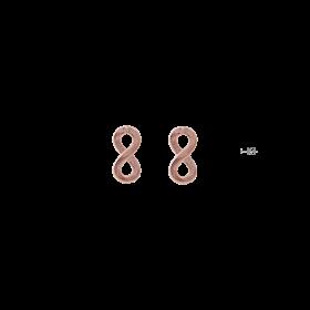 8031-Osa Mayrose Orecchini a Lobo Infinito in Argento placcato Oro Rosa