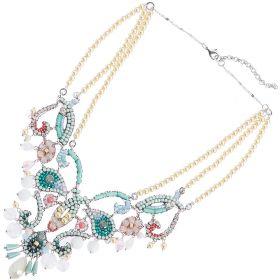 500278C-Ottaviani Bijoux collana con Perline cristalli e Strass