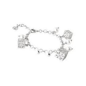 Bracciale con perle Swarovski e cubetti di zirconi XBR408