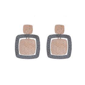 KBO436/34-KEMIRA Orecchini in Metallo Anallergico, Galvanica nera e Rosa