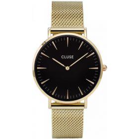 CL18110-Orologio Solo Tempo Cluse La Boheme Mesh Gold/Black