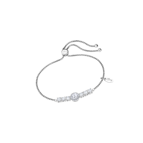 LP2007-1/1-Bracciale Lotus Silver con Cristalli Swarosky