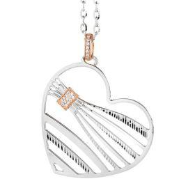 Collana con pendente a forma di cuore e zirconi XGR213